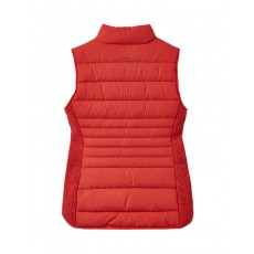 Joules Fallow Padded Gilet With Funnel Neck Watermelon