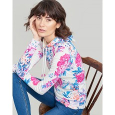 Joules Marlstonprint Print Hooded Sweatshirt Cream Floral