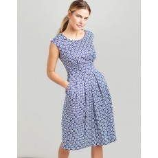 Joules Katalina A- Line Dress Blue Floral