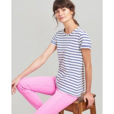 Joules Nessa Stripe Lightweight Jersey T-Shirt Cream Blue Stripe