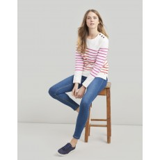 Joules Renee Cream Red Stripe Sweatshirt