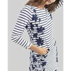 Joules Quinn34 Navy Border Floral Tunics