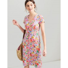 Joules Jude White Floral Meadow Wrap Dress