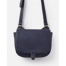 Joules Kelby Bright Tumbled Pu Cross Body Saddle Bag French Navy