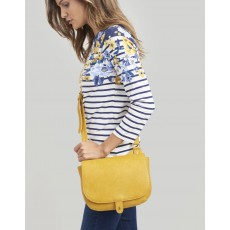 Joules Kelby Bright Antique Gold Saddle Bag