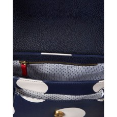 Joules Darby Navy Spot Print Saddle Bag