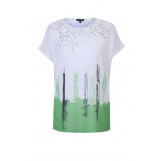 Marble Abstract Print Top Green