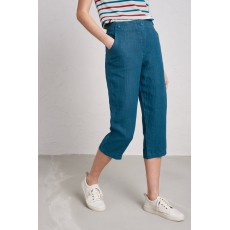 Seasalt Brawn Point Cropped Trousers Mid Teal