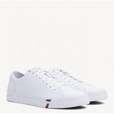 Tommy Hilfiger Corporate White Leather Sneaker