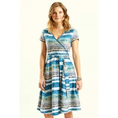 Nomads Cross Front Dress Aegean