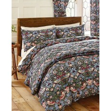Morris & Co Strawberry Thief Bedding Brown