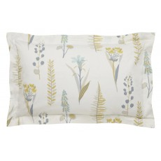 Sanderson Home Floral Bazaar Quilted Throw  130 x 170cm Linen