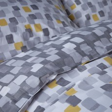 Bianca Brushstrokes Bedding Grey/Ochre