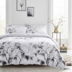 Bianca Kyoto Bedding White/Grey