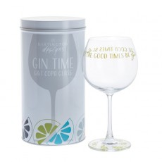 Dartington Glass Gin Time Let The Good Times Be Gin