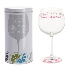 Dartington Glass Gin Time Smile There's Gin