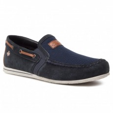 Rieker Samtcalf Techknit Navy/Brown Loafer