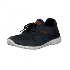 Rieker Balti Airmesh Ambor Navy/Brown Trainers