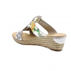 Rieker Space Bougquet Multi Coloured Wedged Heel Sandal