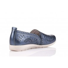 Remonte Faruk Blue Slip On Shoes