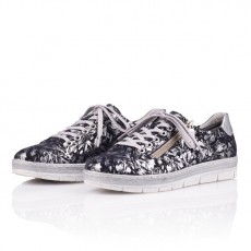 Remonte Astrale Pamplona Metallic Silver Trainer