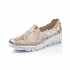 Rieker Beige Metallic Sneakers