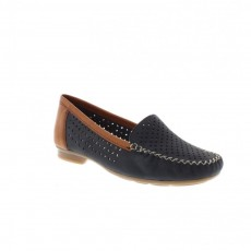 Rieker Lago Blue and Brown Loafer