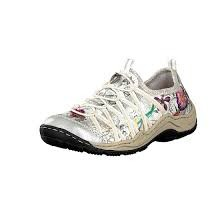 Rieker Space Bouquet White and Multi Coloured Flower Trainer