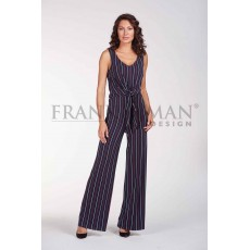 Frank Lyman Jumpsuit Navy & Red