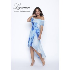 Frank Lyman Dress Blue Azure