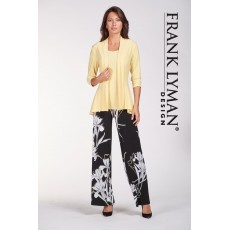 Frank Lyman Trousers Black/Yellow Print