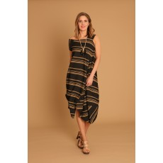 Latte Diagonal stripe dress