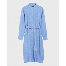 Gant Linen Chambray Shirt Blue Dress