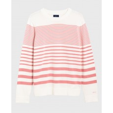 Gant Tonal Striped Rose Crew