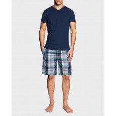 Gant Blue PJ Set Check Shorts