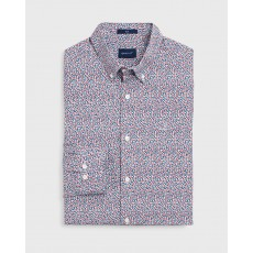 Gant Rose Print Red Slim Shirt