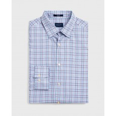 Gant Oxford Plaid Reg Blue Long Sleeve Shirt