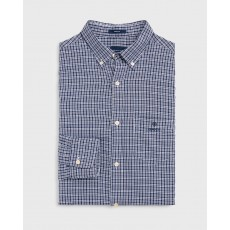 Gant Windblown Oxford Blue Check Regular Long Sleeve Shirt