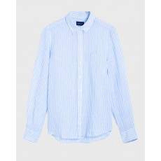 Gant Linen Chambray Stripe Blue Shirt
