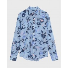 Gant Floral Silk Blue Shirt