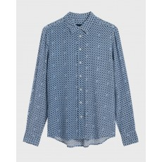 Gant Weave Blue Shirt Blouse