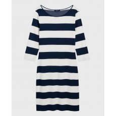 Gant Barstriped Blue Shift Dress