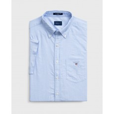 Gant Oxford Blue Regular Short Sleeve Shirt