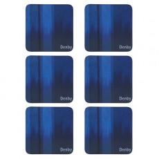 Denby Colours Blue Coasters Set 6