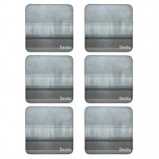 Denby Colours Grey Coasters Set 6