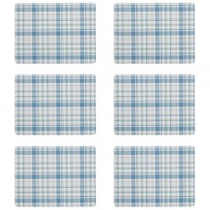 Denby Elements Checks Green/Blue 6Pc Placemats