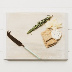 Mango Wood Cheese Board+Knife Set