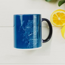 Deep Blue Scotland Mug
