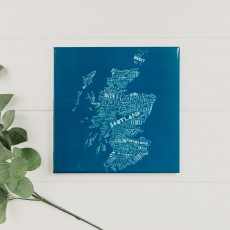 Deep Blue Scotland Trivet