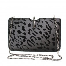 Lunar Black Clutch Bag